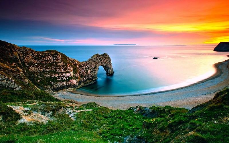 landscape-nature-sea-sunrise-coast-rock-arch-grass-england-pics-194356